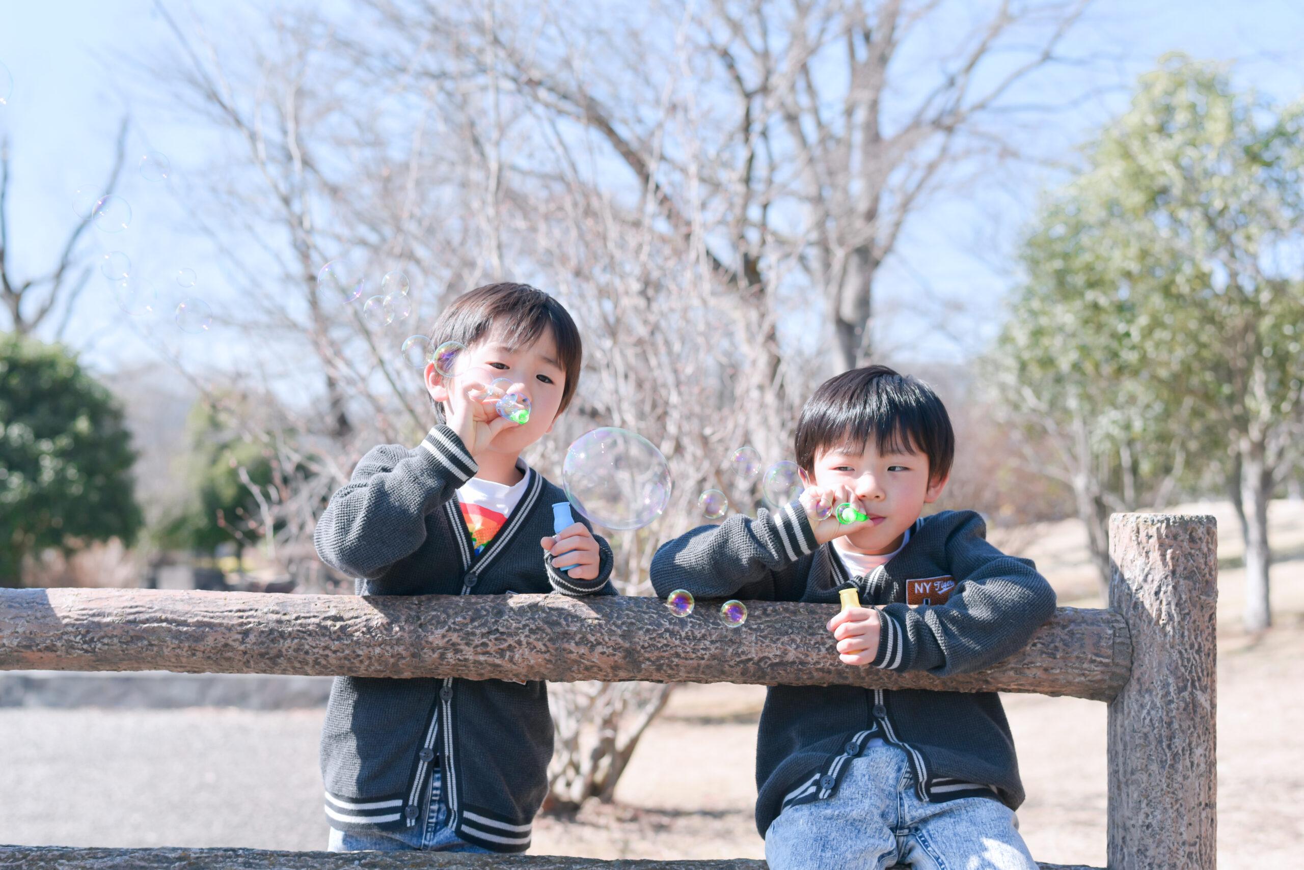 双子の男の子 6歳バースデー お誕生日写真 フォトスタジオフォトジェニック