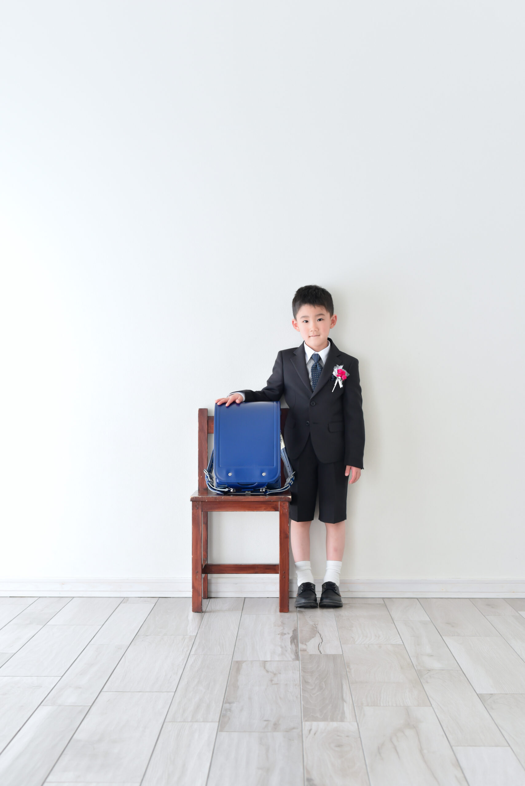 6歳男の子 小学校入学写真 ランドセルと写真 幼稚園卒業写真 おめでとう!