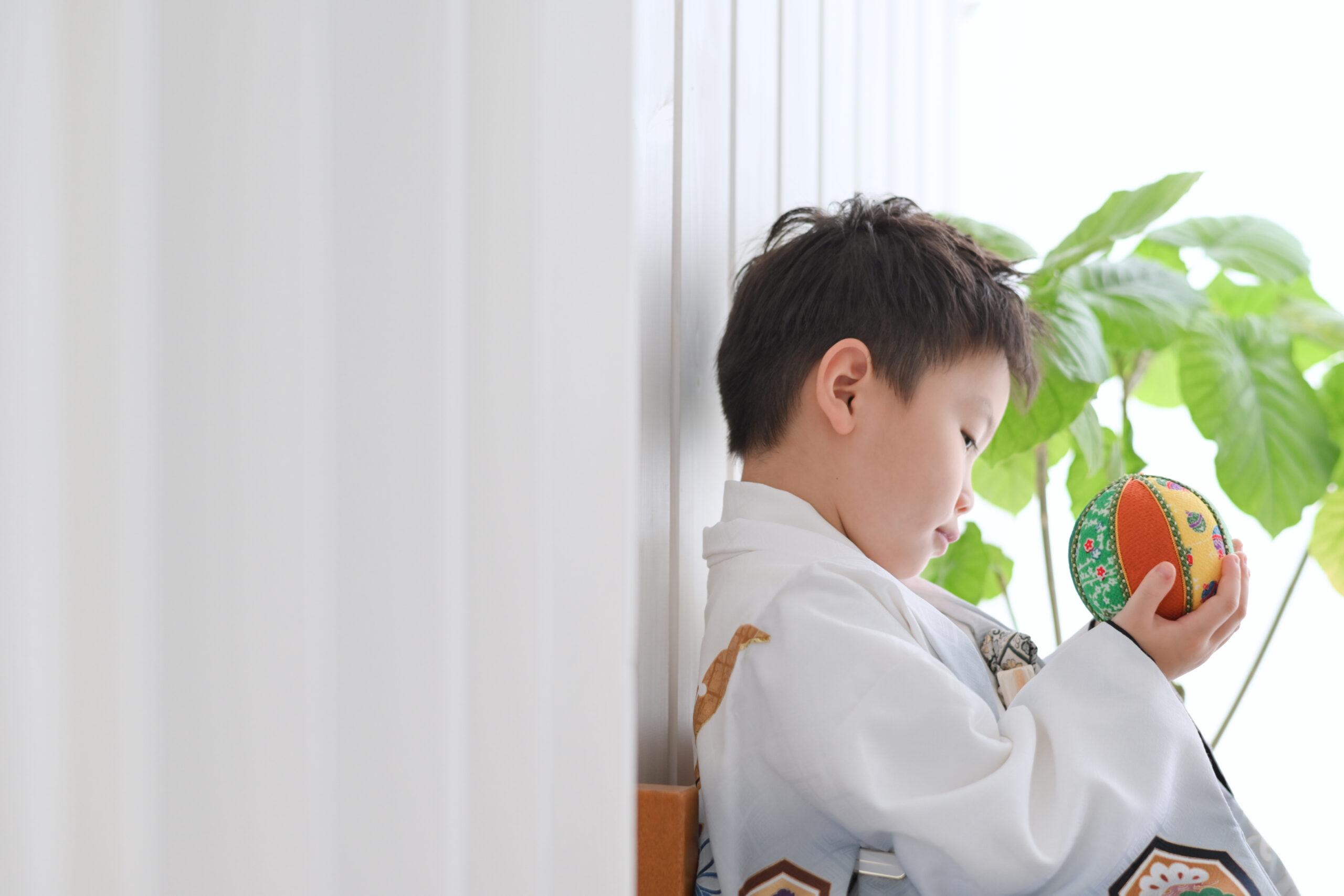 七五三撮影5歳の男の子